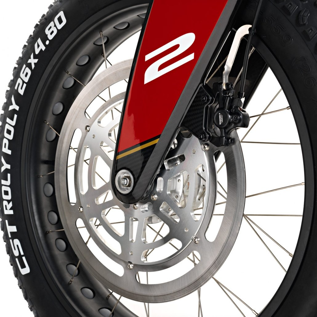 carbon ebike club version front brake